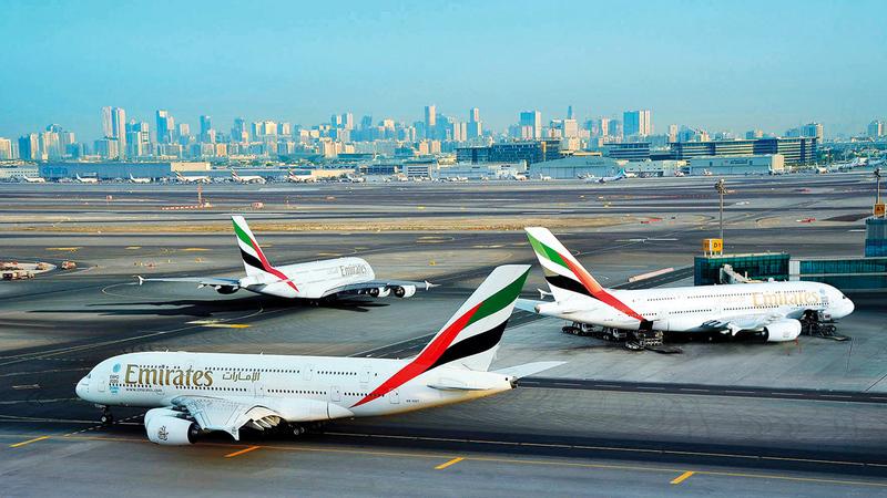 «طيران الإمارات» أعدت مخططاً كاملاً لاستئناف تشغيل المزيد من طائرات «A 380».  أرشيفية