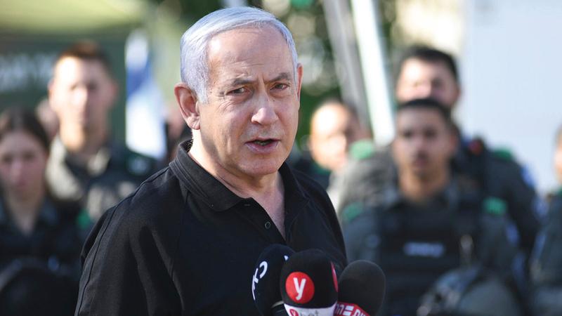 نتنياهو يسير على خطى المؤسسين الأوائل في سحق الفلسطينيين.   أ.ب