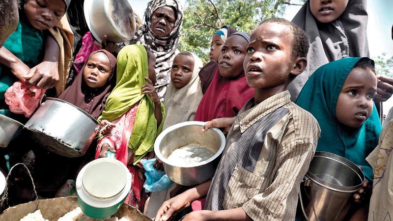 ملايين الأطفال يعانون الجوع.   أرشيفية