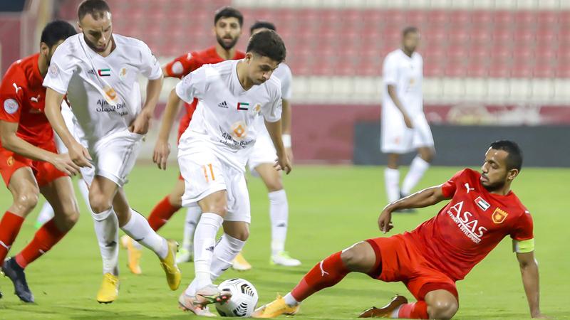 لياندرو سجل الهدف الحاسم لعجمان. الإمارات اليوم