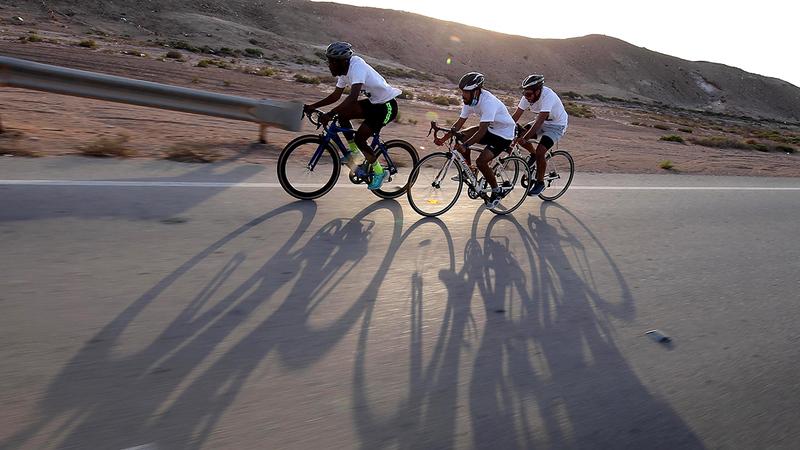 مسافة سباق الدراجات بلغت 7000 متر.  من المصدر