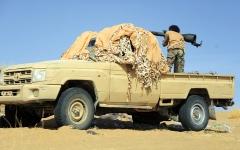 الصورة: مقاتلات التحالف تدمر تعزيزات «حوثية» في مأرب وصعدة