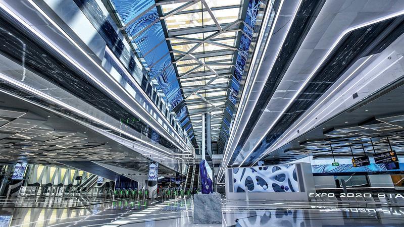 افتتاح المحطتين تزامناً مع بدء العد التنازلي لاستضافة دبي معرض «إكسبو 2020 دبي».  من المصدر