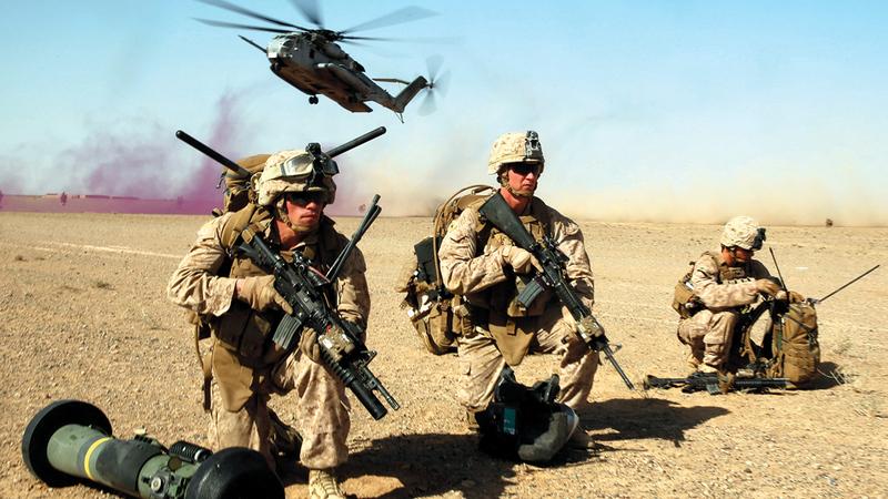 %68 من المحاربين القدامى يؤيدون الانسحاب الأميركي من أفغانستان.   عن غيتي