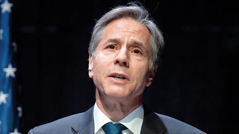 أنتوني بلينكن: «الولايات المتحدة تعتمد دبلوماسية نشطة لوضع حد للأعمال العسكرية وخفض التوتر».