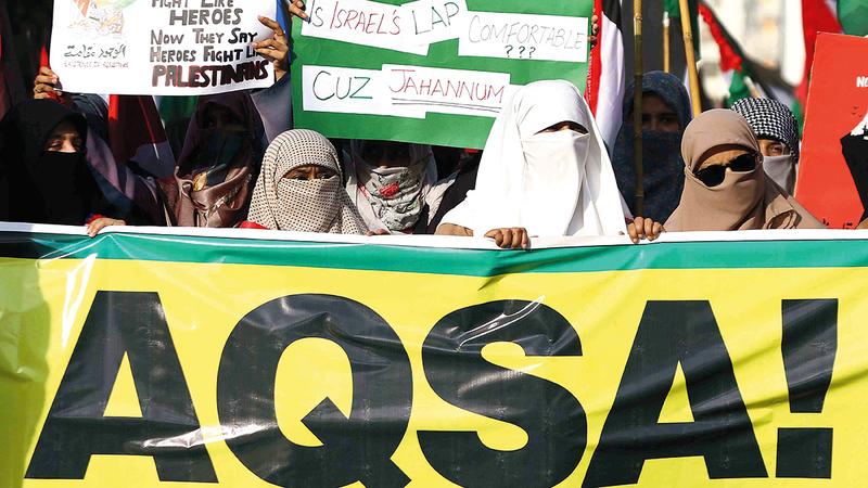 حركة التضامن مع الفلسطينيين غطت معظم دول العالم.  أرشيفية