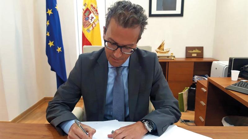 السفير الإسباني: «سنعمل على إعداد فعاليات ثقافية وأنشطة تتناسب مع مكانة معرض الشارقة للكتاب».