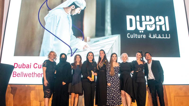 خلال حفل توزيع الجوائز الذي نظم في دبي.   من المصدر