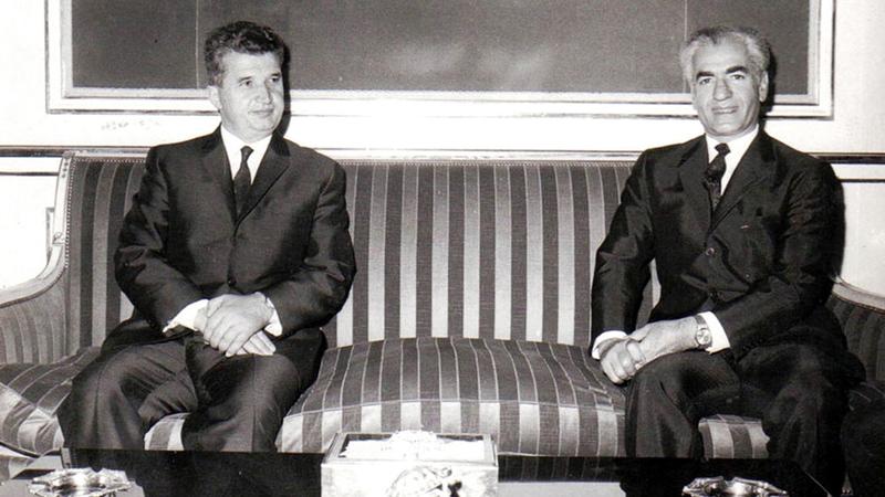 شاه إيران وتشاوتشيسكو.. علاقة وطيدة.  أرشيفية