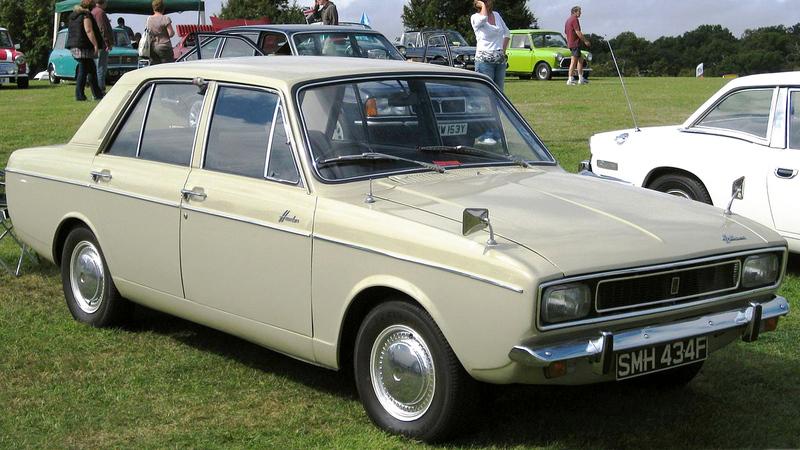 السيارة «بيكان هيلمان هنتر» التي توقّف إنتاجها عام 1976.  أرشيفية