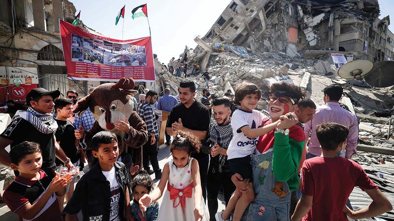 الدمار الهائل الذي خلّفته الغارات الإسرائيلية واجه انتقاداً كبيراً في الكونغرس.  أ.ف.ب