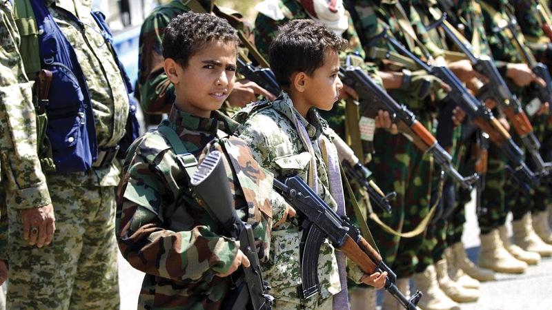 الحوثيون مازالوا يجندون الأطفال في اليمن.   أرشيفية
