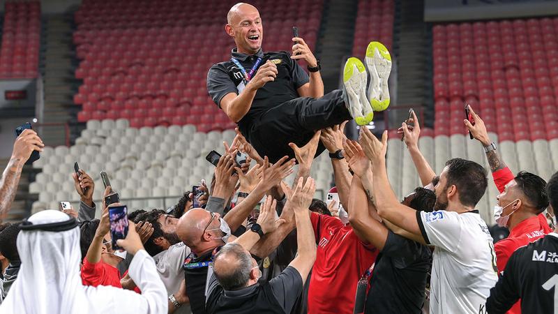 كايزر قاد الجزيرة إلى اللقب الثالث بالدوري في الموسم المنصرم.   من المصدر