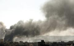 الصورة: تدمير غرفة عمليات وقيادة للميليشيات في جبل هيلان بمأرب