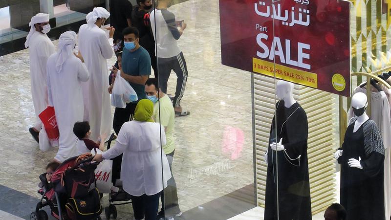 المتاجر والعلامات التجارية قدمت عروضاً ترويجية وصفقات على مدار 72 ساعة.  تصوير: مصطفى قاسمي