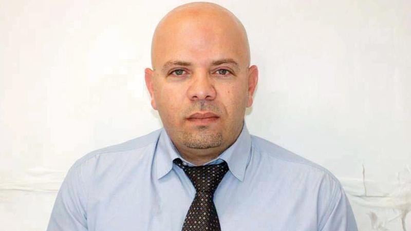 رئيس لجنة الأسرى والمحررين المقدسيين أمجد أبوعصب. الإمارات اليوم