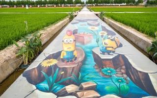 الصورة: بالصور.. معرض فني ريفي في الصين