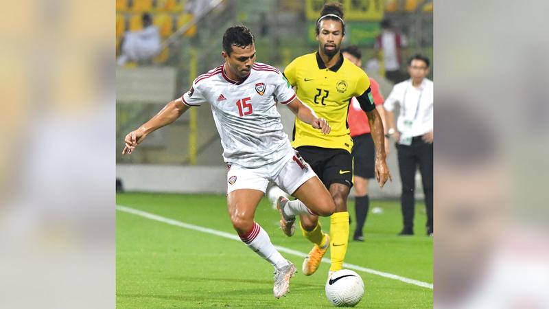 ليما سجّل هدفين في أول مباراة رسمية مع المنتخب.  تصوير: أسامة أبوغانم
