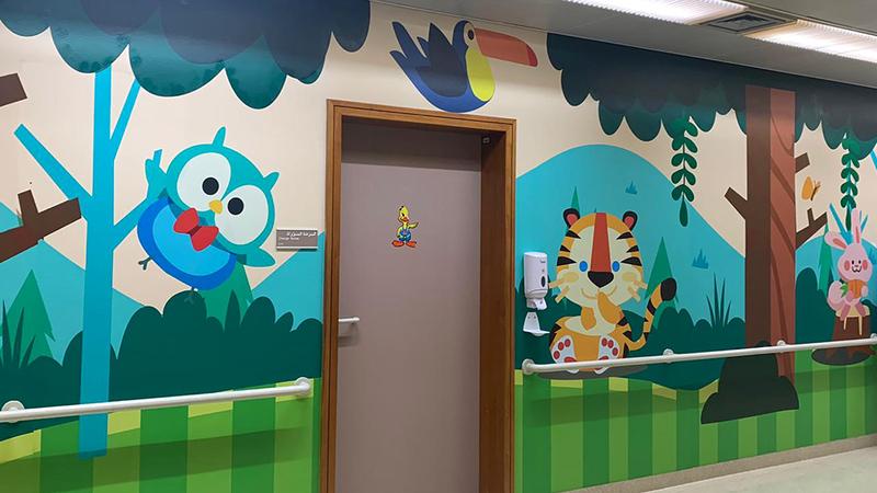 المبادرة تأتي تنفيذاً للمرحلة الثانية من مشروع «الفن في المستشفيات».   من المصدر