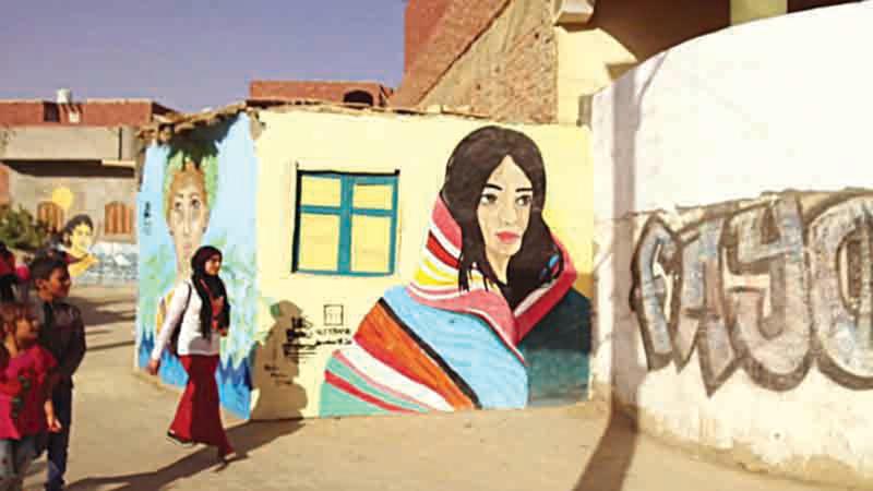 قرية تونس أصبحت مركزاً ثقافياً وفنياً بجهود بوريه وغيرها من الفنانين.   أرشيفية
