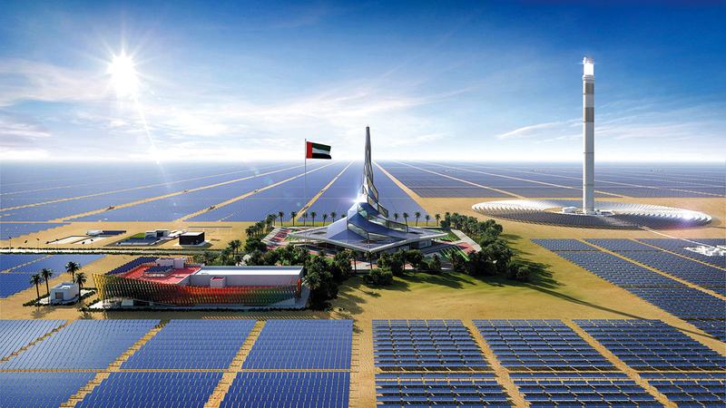 توفير 75% من القدرة الإنتاجية للطاقة في دبي من مصادر الطاقة النظيفة بحلول 2050.   أرشيفية