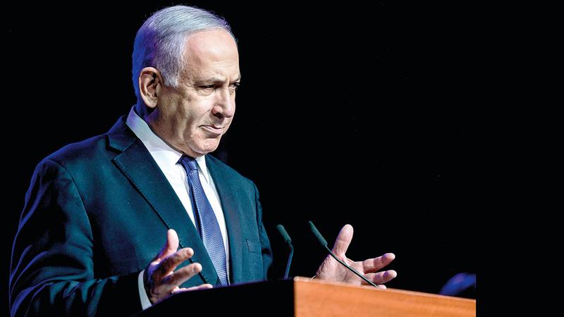 نتنياهو روّج لفكرة إدارة الصراع مع الفلسطينيين على نحو أبدي.   أ.ف.ب