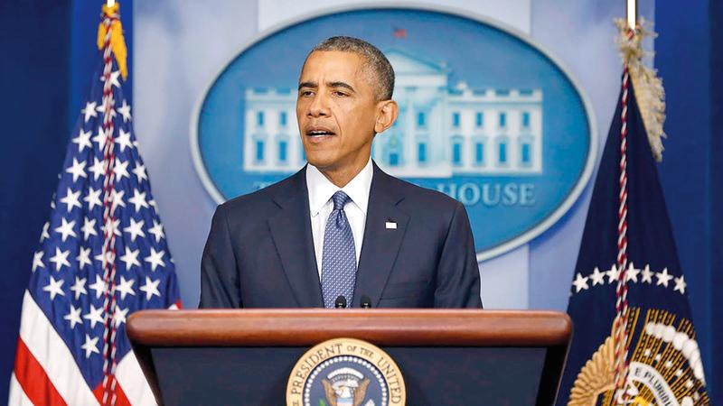 أوباما تبنى إصلاحات قانون الرهائن في 2015.  أرشيفية