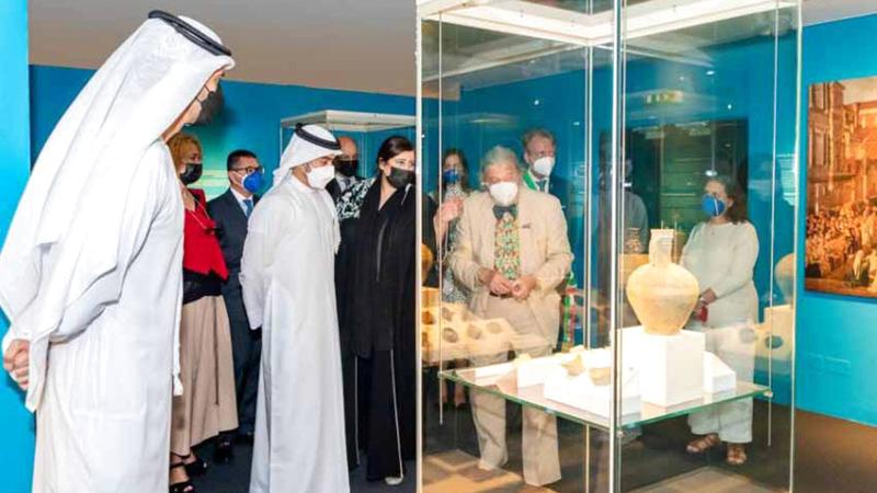 جانب من افتتاح المعرض الذي يستمر ستة أشهر في متحف الشارقة للحضارة الإسلامية. من المصدر