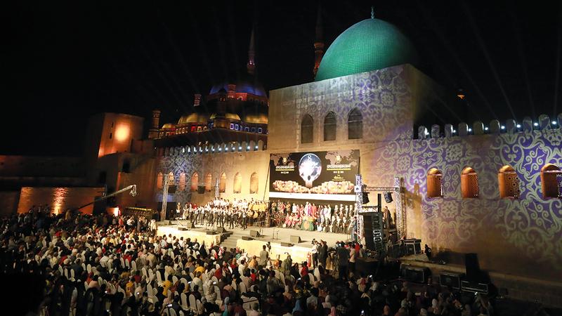 المهرجان يرفع شعار «حوار الطبول من أجل السلام».  إي.بي.أيه