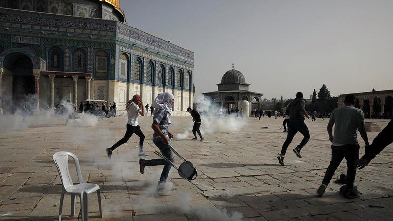 الاقتحامات المتكررة للمسجد الأقصى من قبل المستوطنين تؤدي إلى توتير الأجواء .  أرشيفية