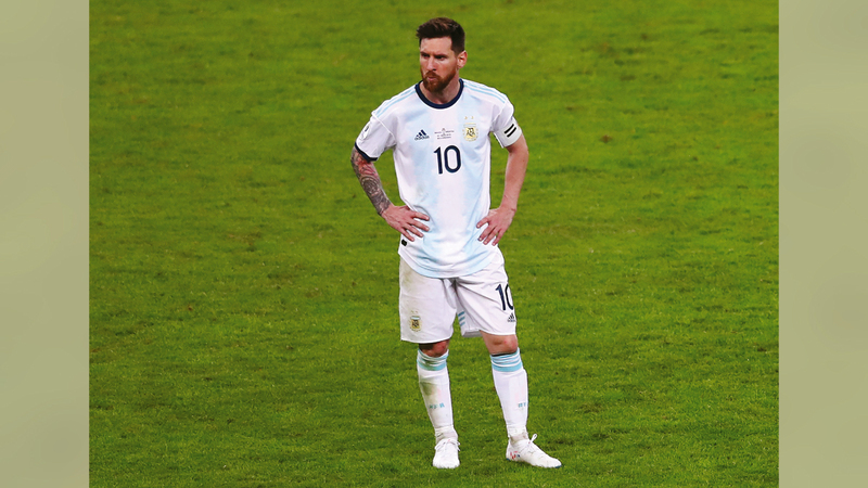 ليونيل ميسي أمل الأرجنتين للفوز بلقب «كوبا أميركا» الغائب عن خزائنها منذ 1993.   رويترز