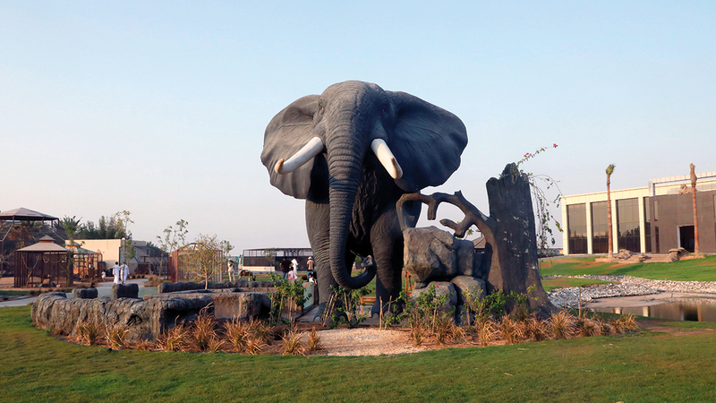 الحديقة وجهة سياحية وترفيهية جديدة في أم القيوين.   وام