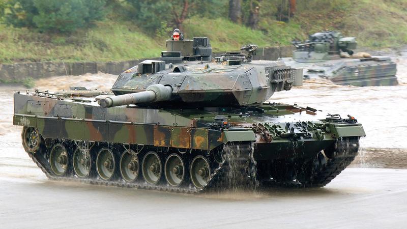 الدبابة الألمانية ليوبارد.   أرشيفية