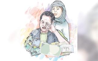 الصورة: «إحسان» يحتاج إلى 13.1 ألف درهم كلفة علاجه لمدة عام