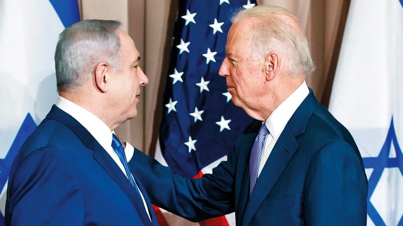 بايدن كان يتعامل مع رئيس وزراء إسرائيلي منهك سياسياً.   أرشيفية