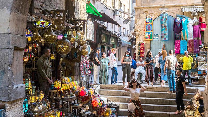 هناك ازدياد طفيف في عدد السياح الذين بلغوا في أبريل الماضي 500 ألف. أ.ف.ب
