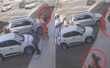 الصورة: رجل أعمال يقتل طليقته في وضح النهار وفي شارع مزدحم ثم ينتحر