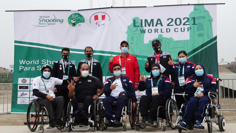 منتخب الإمارات المشارك في بطولة العالم بالبيرو.   من المصدر