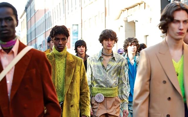 الصورة: أسبوع الموضة للرجال في ميلانو.. «بروفة الوضع الطبيعي»