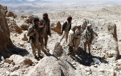 الصورة: الجيش اليمني يصد هجمات حوثية في جبهات غرب مأرب والجوف