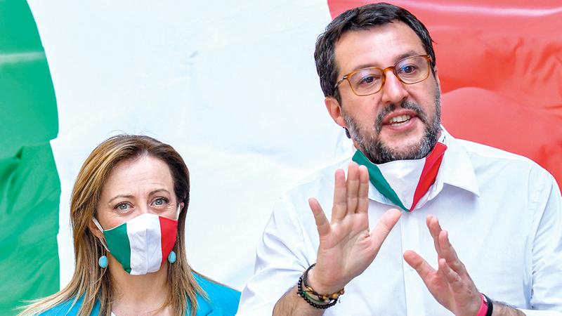 صعود اليمينيين في إيطاليا تهديد للمشروع الأوروبي.  أ.ف.ب