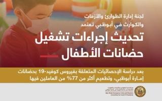 """الصورة: """"الطوارئ والأزمات في أبوظبي"""" تعتمد تحديث إجراءات تشغيل الحضانات"""