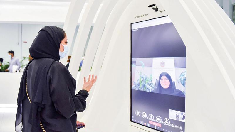 منصة الكشف المبكر عن الإصابات الدماغية خلال فعاليات معرض ومؤتمر الصحة العربي.   من المصدر