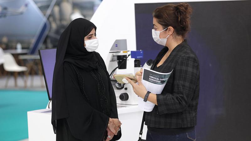 «الصحة» استغلت منصتها في المعرض للإعلان عن العلاج المبتكر.   من المصدر