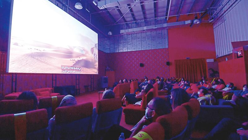 العرض الأول للفيلم قدّم في سينما عقيل بـ«مركز جميل».   تصوير: باتريك كاستيلو