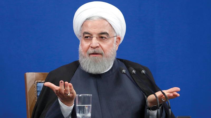 روحاني قال خلال انتخابات عام 2017 إن رئيسي لا يعرف سوى إعدام الناس وزجّهم في السجون.   رويترز