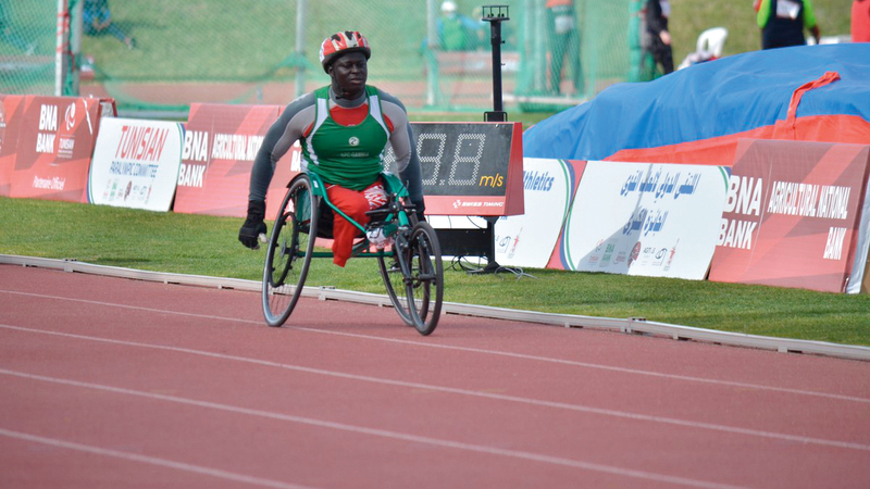 الغامبي مالانغ تامبا يستعد بقوة للمشاركة في الألعاب الأولمبية لأصحاب الهمم.   من المصدر