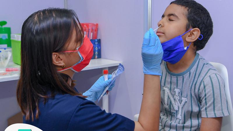مشاركة الأطفال في دراسة الاستجابة المناعية للقاح «سينوفارم».. سبقها الحصول على موافقة ذويهم.  من المصدر