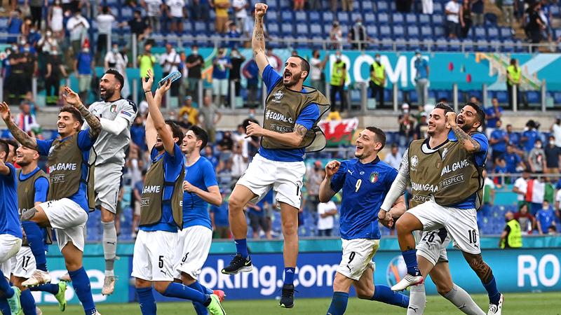 إيطاليا فازت بكل مبارياتها حتى الآن في «يورو 2020».  رويترز