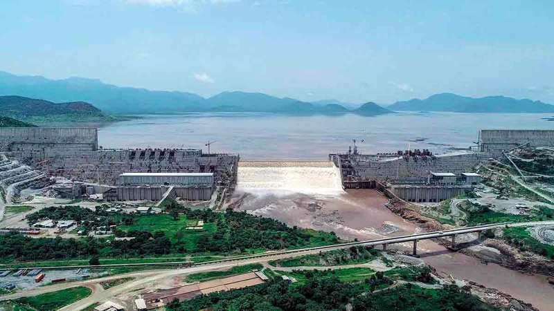 إثيوبيا عازمة على مواصلة ملء السد.   رويترز